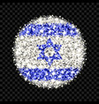 israel flag sparkling badge vector image vector image