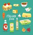 italian food set lasagna and flavouring vector image