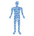 jeans person figure vector image