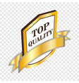 label top quality isometric icon vector image vector image
