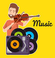 man playing fiddle character vector image