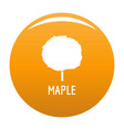 maple tree icon orange vector image vector image