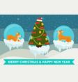 merry christmas and happy new year corgi congrats vector image vector image