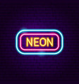 Neon signboard label