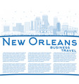 outline new orleans louisiana city skyline with vector image