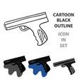 paintball hand gun icon in cartoon style isolated vector image