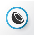 palm fruit icon symbol premium quality isolated vector image