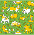 pet pattern in line style vector image vector image