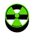 radiation round sign green 3d icon with vector image vector image