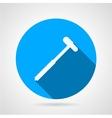 Reflex hammer flat round icon vector image vector image