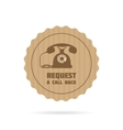 Request a call back icon vector image
