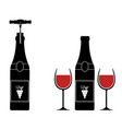 retro wood corkscrew icon for opening wine bottle vector image vector image