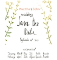 rustic save date invitation card template vector image