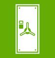 safe door icon green vector image vector image