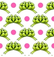Seamless pattern with cartoon bow vector image vector image