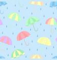 seamless umbrella pattern vector image vector image