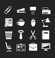 Set icons of office vector image vector image