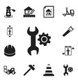 set of 12 editable building icons includes vector image
