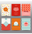 Set of Autumn Brochures and Cards - vintage layout vector image vector image