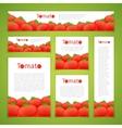 set tomato banners vector image