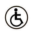 simple sign with person on disabled carriage in vector image