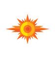sun - logo sign concept vector image