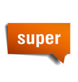 super orange 3d speech bubble vector image vector image