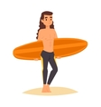 Surfing boy stay vector image vector image