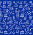travel seamless pattern vector image vector image