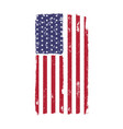 usa american national flag in disstressed style vector image