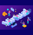 virtual reality isometric composition vector image vector image