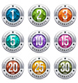 Warranty Seal Chrome Badge vector image