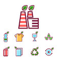 waste rubbish pollution ecology recycling vector image vector image