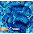 watercolor ocean background stain wa vector image vector image