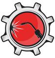 welding machine at work symbol vector image vector image