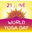 Yoga world day vector image vector image