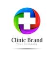 Medicine idea logo template Creative vector image