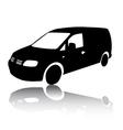Silhouette of black Van car vector image