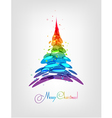 Abstract multicolored Christmas tree