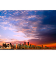 abstract sunrise clouds background with panorama vector image vector image