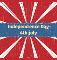 american independence day 4 th julygreeting card vector image vector image