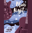 announcement blues night festival with place vector image vector image