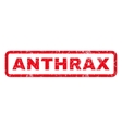 Anthrax Rubber Stamp vector image vector image