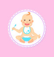 baby shower greeting card infant boy eats