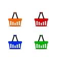 Basket set vector image vector image