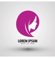 beauty salon logo design template people vector image