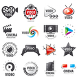 biggest collection of logos for video production vector image vector image