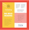 blast business company poster template with place vector image