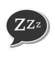 bubble speech sleep design vector image vector image