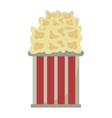 Bucket pop corn cinema graphic vector image